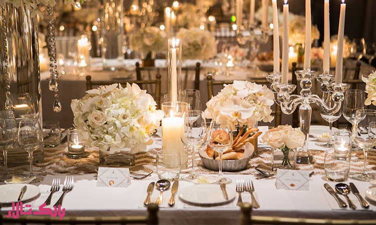 هزینه شمع آرایی میز پذیرایی از میهمان ها