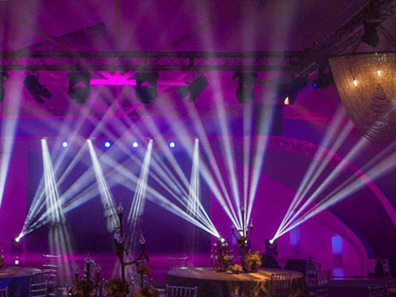 تحهیزات نورپردازی تالار عروسی