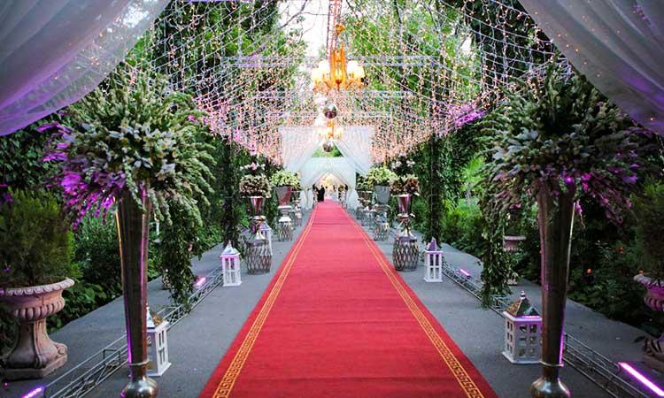 لاکچری ترین باغ تالار عروسی