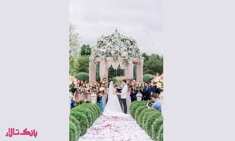 انتخاب سالن عروسی فضای باز