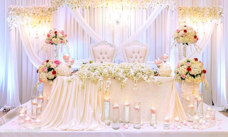 طراحی و دکوراسیون جایگاه عروس و داماد