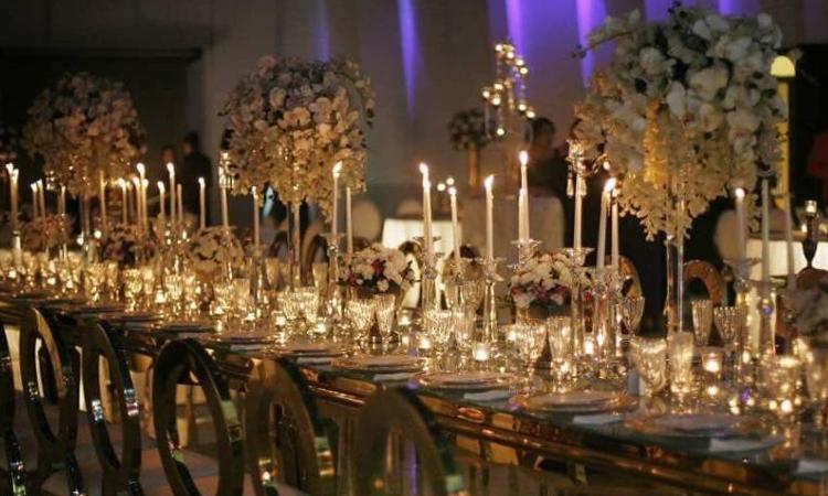 شمع آرایی سالن عروسی