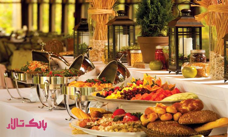 کیفیت غذا تالار عروسی شیک و ارزان