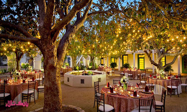 خدمات تشریفات عروسی برای برگزاری مراسم در فضای باز