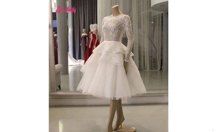 بهترین جنس لباس عروس کوتاه