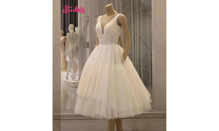 خرید لباس عروس کوتاه