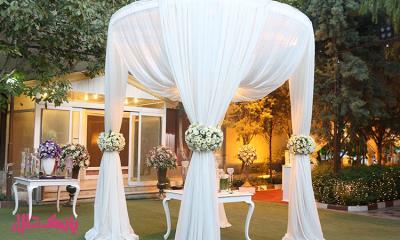 باغ عروسی کوچک برای عروسی با ظرفیت کم