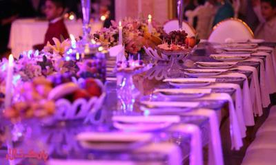 تزیین میز میهمانان در تشریفات عروسی