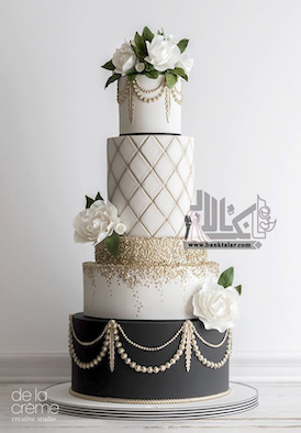 مدل کیک فوندانت خاص و مدرن ویژه عقد و عروسی