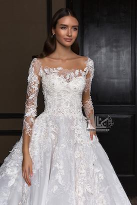مدل های لباس عروس آستین بلند 2020