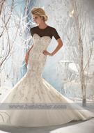 لباس عروس با کاردست های ساده و زیبا